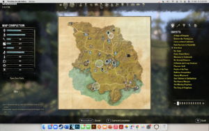 Image of the map screen when I first opened it
