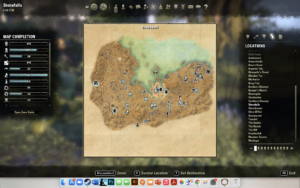 Image of the map screen when I clicked on Stonefalls